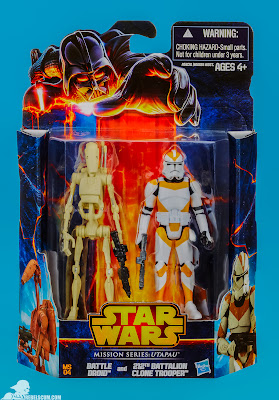 Hasbro Star Wars Mission Series: Utapau - Battle Droid & 212th Battalion Clone Trooper Figures