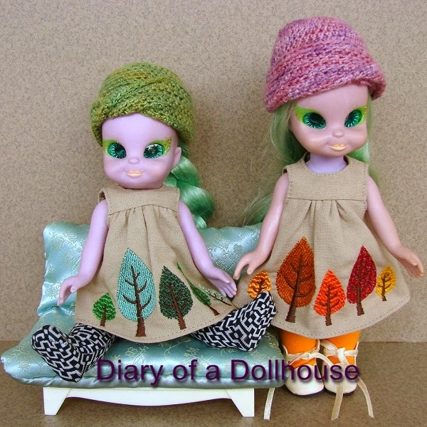 Fitzcharmings Twin Emerald Witch Dolls