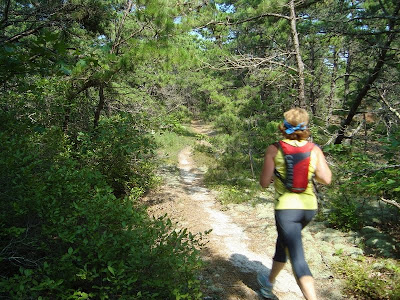 Running through the Truro Hills, Cape Cod National Seashore. 