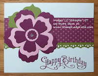 Card made with Stampin'UP! Floral Frames Framelit Dies and Sassy Salutations Stamp Set