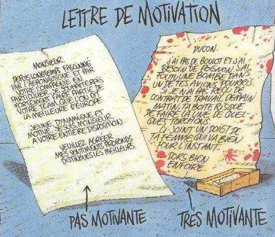la fameuse lettre de motivation