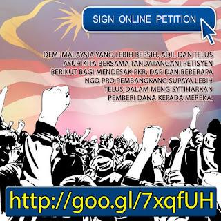 Petition Desak DAP dan Pakatan Dedah Sumber Dana Politik