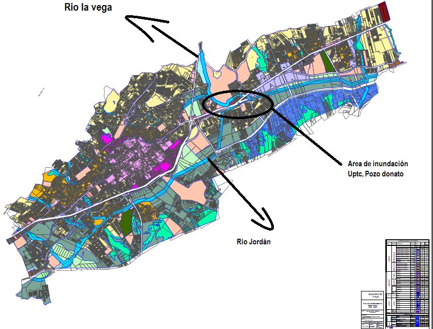 El Debate Boyacense Tunja Inundada - Tunja map
