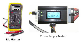 multimeter dan PSU tester