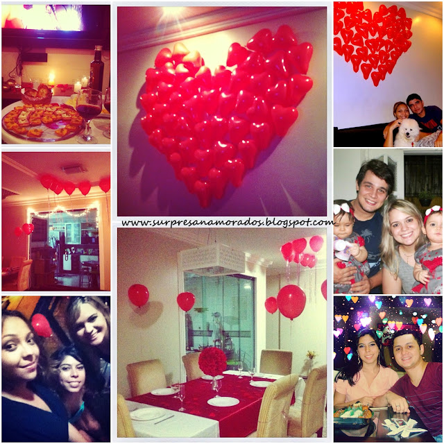 balões em forma de coração na parede