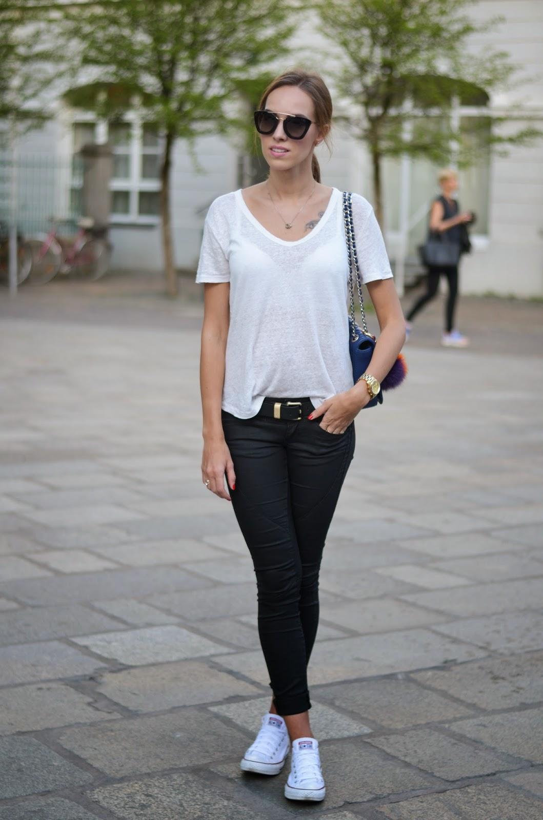kristjaana mere casual spring outfit street style