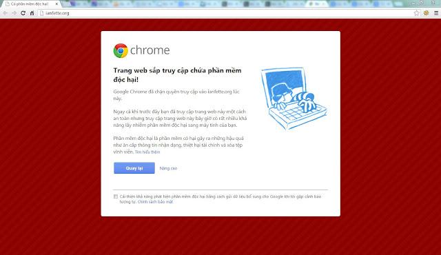 cảnh báo phần mềm độc hại