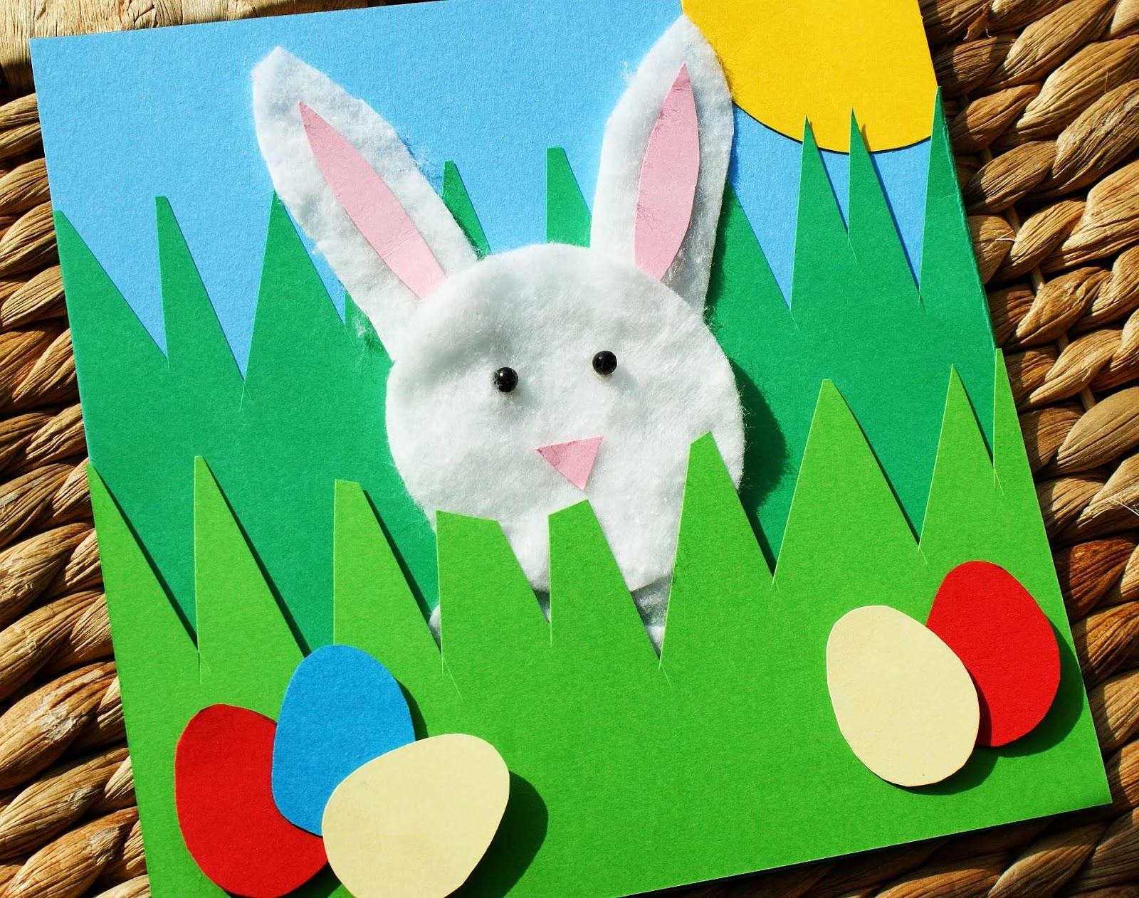 Craft magic easter project handmade easter rabbit picture card craft magic kristyandbryce Choice Image