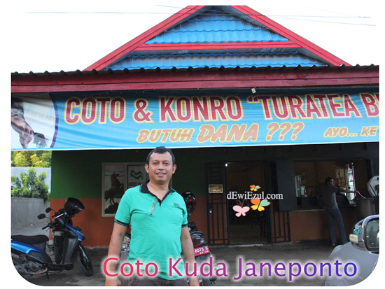 makan Coto Kuda di Janeponto