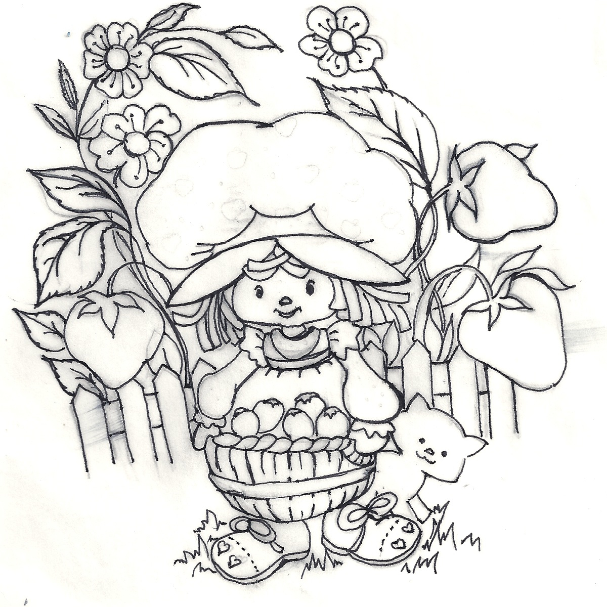 Coloring pages vintage - Vintage Strawberry Shortcake Coloring Pages Coloring Pages
