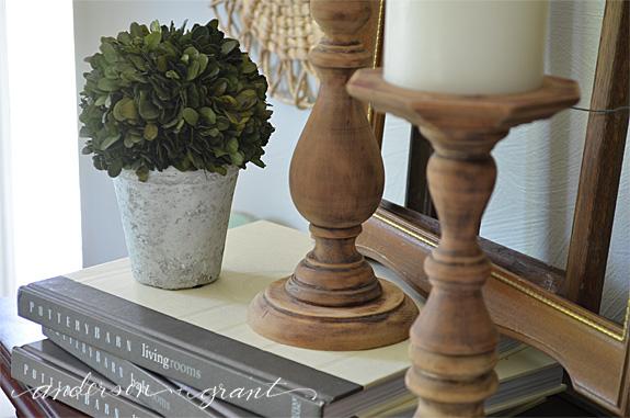 Easy DIY Rustic Wood Candlesticks