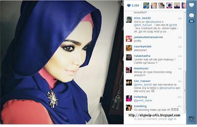 Siti Nurhaliza dengan sentuhan Make-up yang paling cool