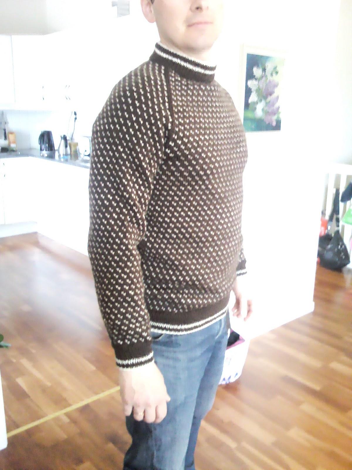 oppskrift enkel genser med raglanfelling