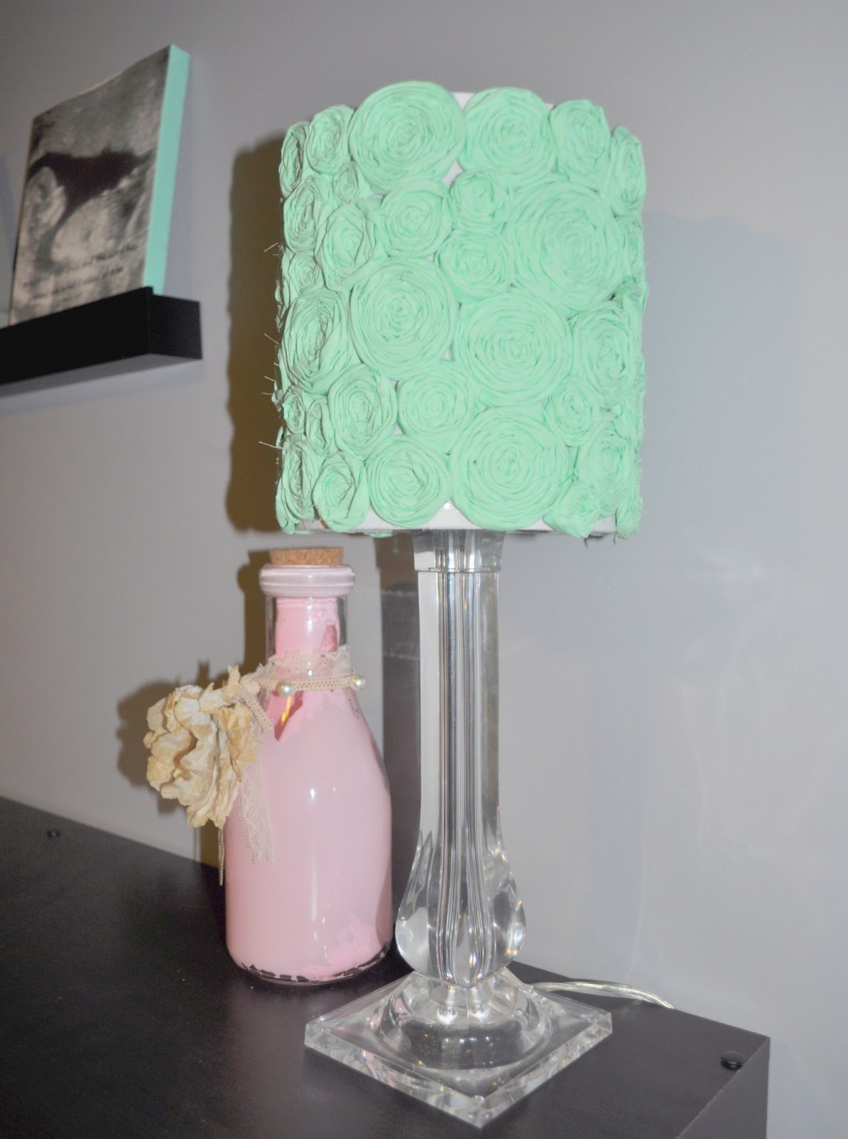 for lauren and lauren diy flower lamp shade