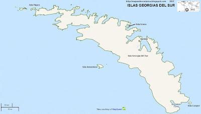 ISLAS GEORGIAS DEL SUR , Antartida, OpenStreetMap