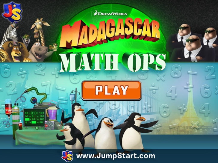 Madagascar Math Ops Free App iTunes App By Knowledge Adventure - FreeApps.ws