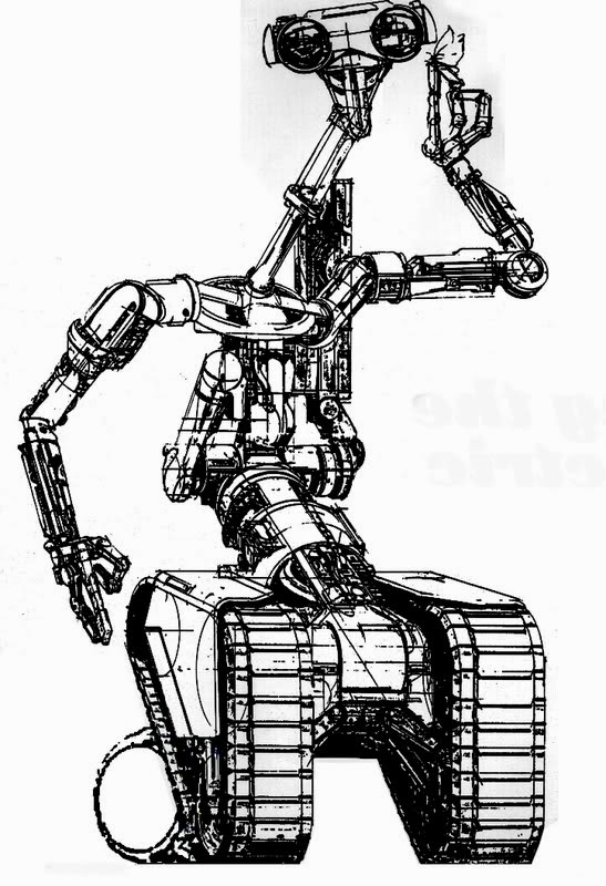 vintage short circuit robot concept designs by syd mead