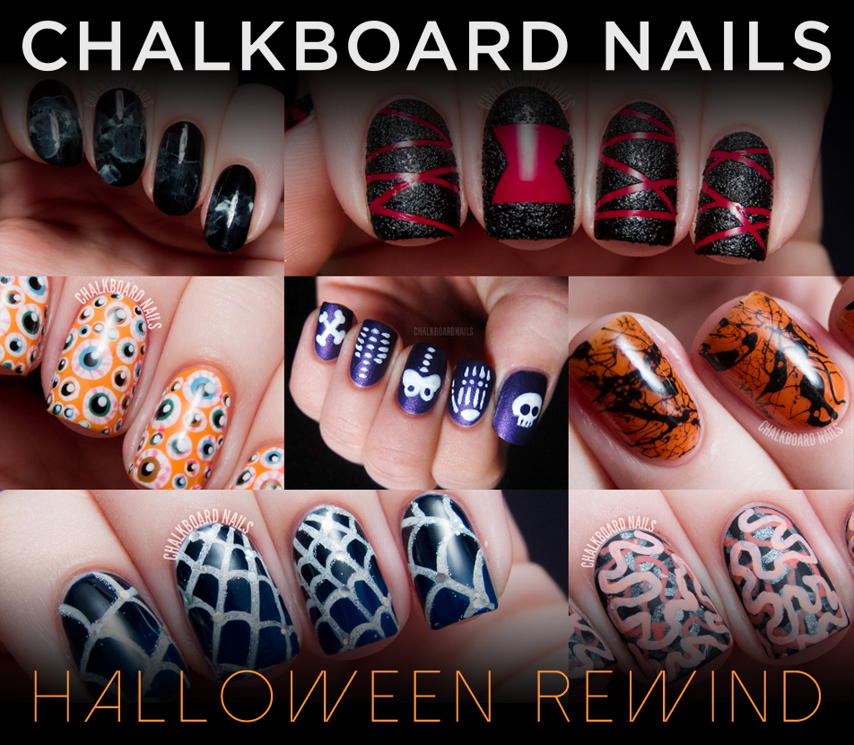 Halloween Nail Art: The Chalkboard Nails Halloween Nail Art Rewind