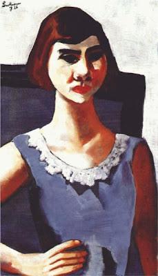 Max beckmann - Quappi en bleu, 1926