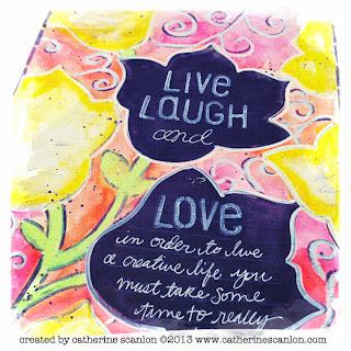 Journal Flower Stencil by Catherine Scanlon for Art Gone Wild!