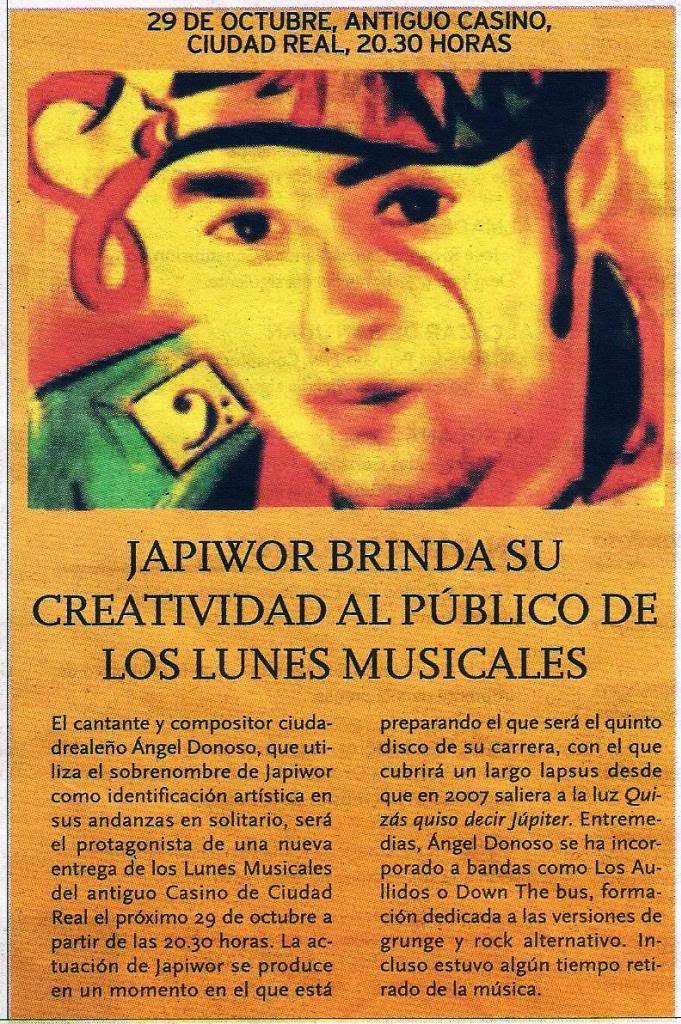 26/10/2012 LA TRIBUNA DE CIUDAD REAL