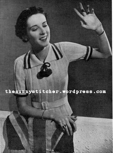 1930's Knitting - The Tropical Touch! free knitting pattern