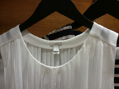 J. Crew Accordion Pleat Top