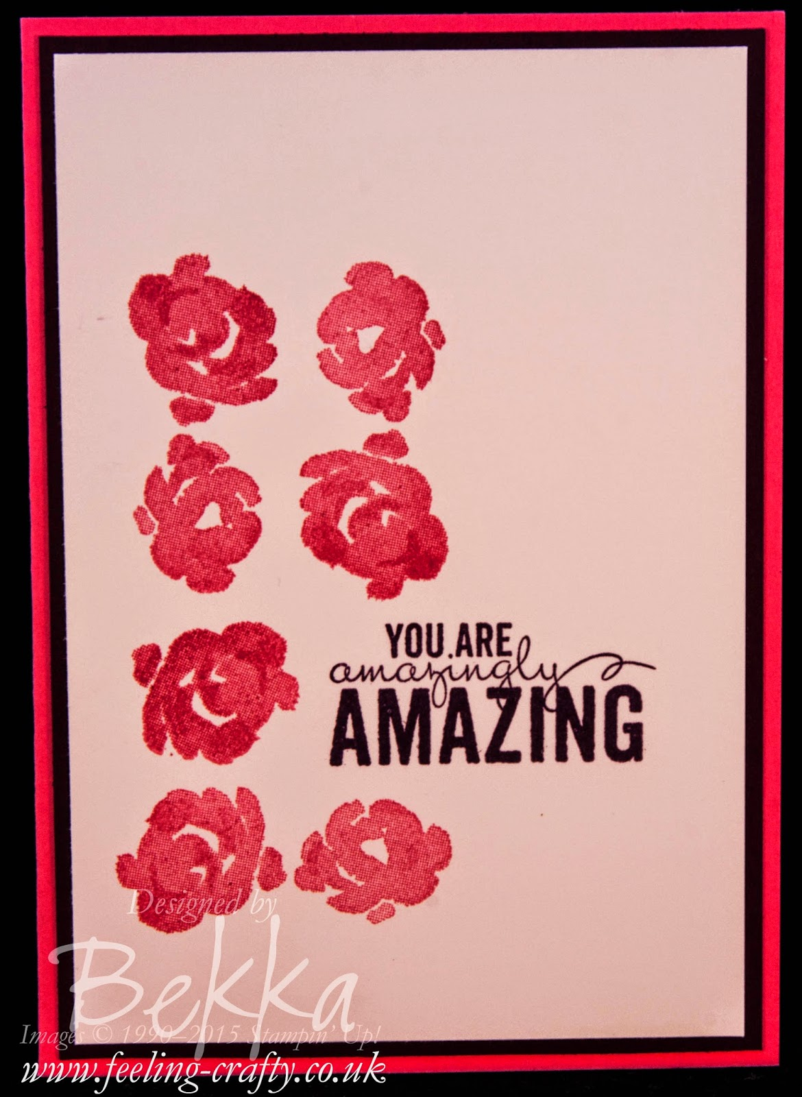Modern and Stylish Painted Petals Card - check this blog for lots of ideas with this stamp set