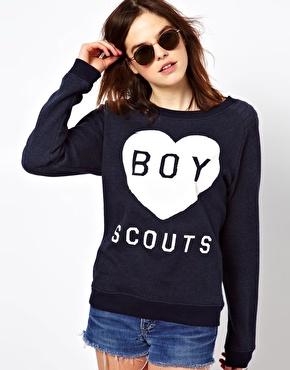 asos yazılı sweatshirt