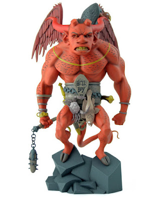 Red Edition The First Hellboy Statue by Mondo x Mike Mignola