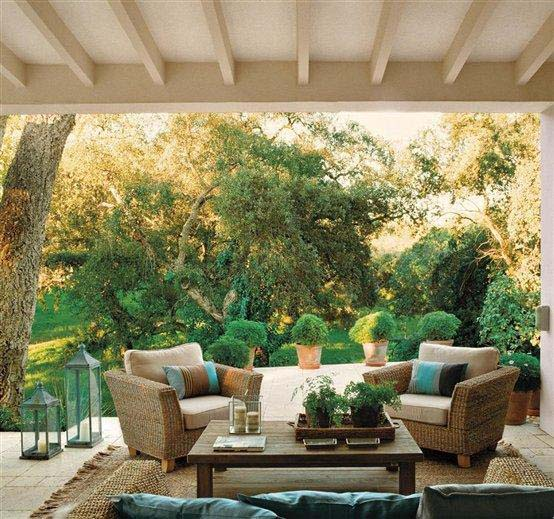 Marta decoycina una casa que se funde con el jardin for Sofas para jardines exteriores