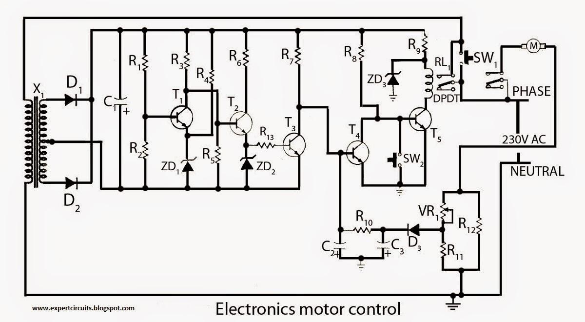 motor controller using transistors
