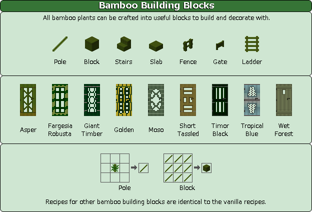 Plant Mega Pack Mod bamboo building blocks
