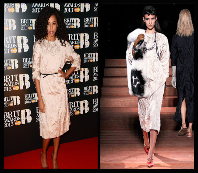 a filha do chefe singer Corinne Bailey Miu Miu dress brit awards 2013