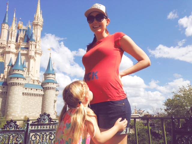 Amy West and daughter at Magic Kingdom