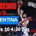 México vs Argentina Semifinales PreMundial Caracas 2013 Martes 4:30