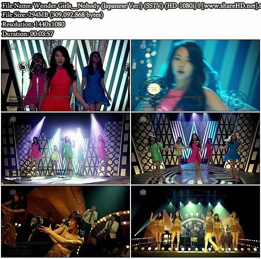 Download PV Wonder Girls - Nobody (Japanese Version) (SSTV Full HD 1080i)