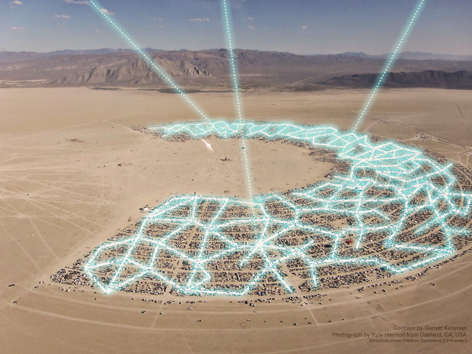 Top Satellite Image of 2012 And the Winner is DigitalGlobe Blog Burning man satellite photo 2012