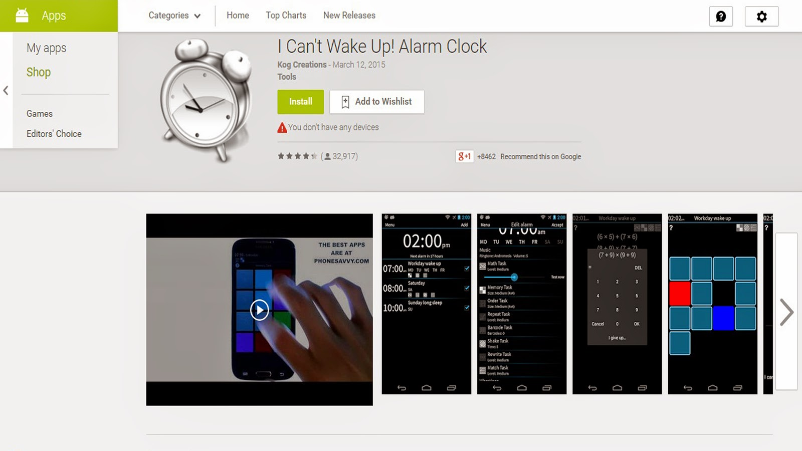 I Cant't Wake Up! Alarm
