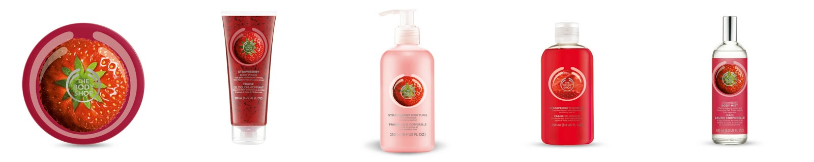 The Bodyshop Strawberry range