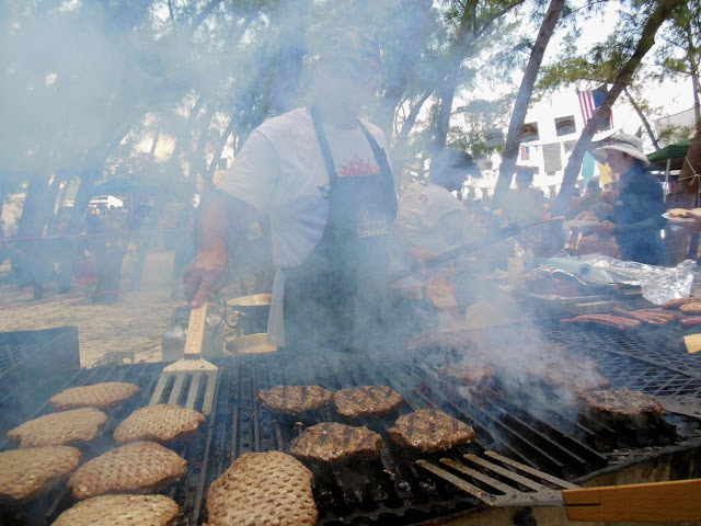 Grilling Bubba Burgers in the Bahamas