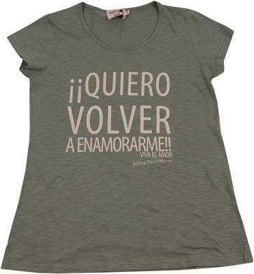camiseta quiero volver a enamorarme viva el amor