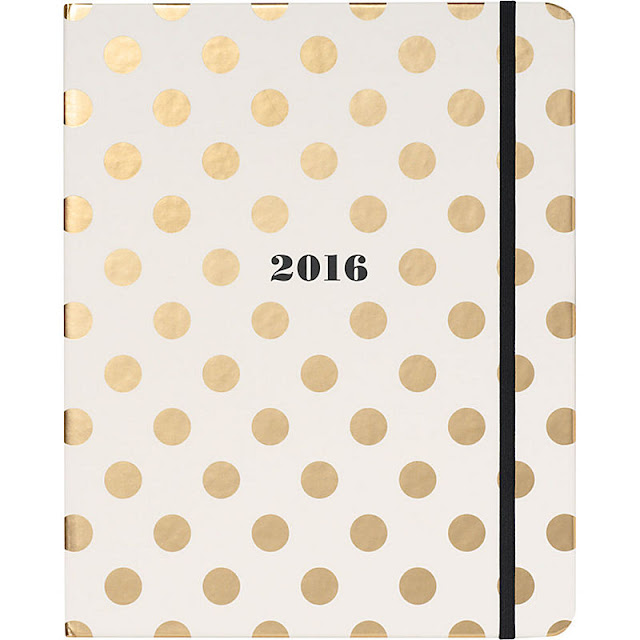 Kate Spade Gold Dot Planner - The Happiness Planner - Prettiest Planners 2016 | #getorganized #schedule #planner #organizer