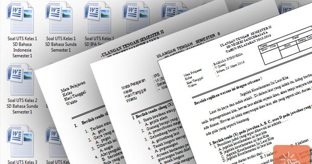 Contoh Soal Uts Ujian Tengah Semester Sd Kelas 1 2 3 4 5 6 Sisi Edukasi File