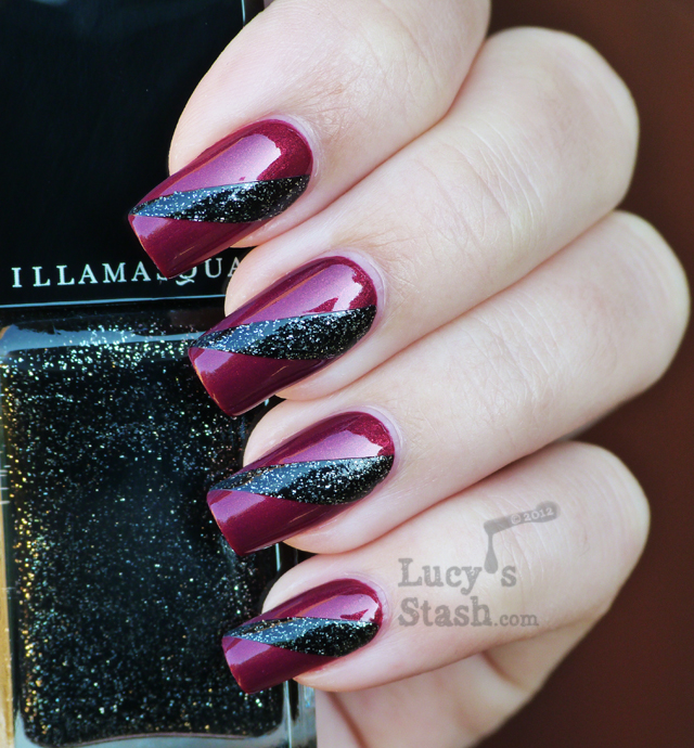 Lucy's Stash - Illamasqua Charisma and Creator nail art