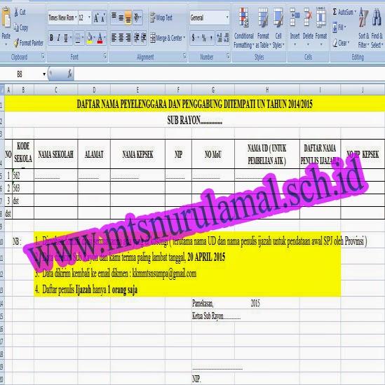 Jadwal UN SMP 2015, Jadwal UN MTs 2015, Format MOu Madrasah Jelang UN 2015