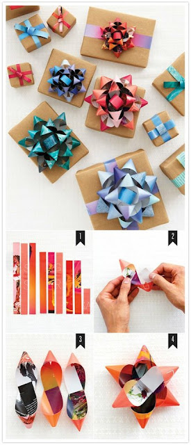 easy recycled paper bow tutorial