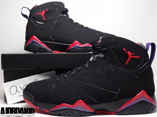 Air Jordan 7 Black And Purple