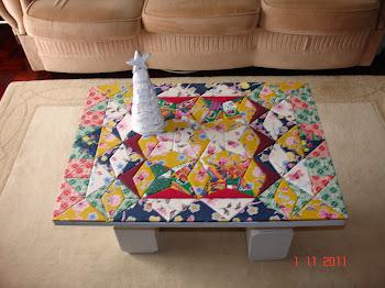 Mesa de apoio- patchwork embutido