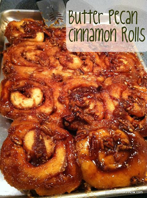 Butter Pecan Cinnamon Rolls